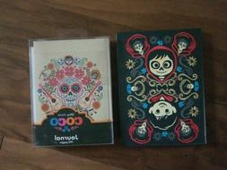 2 NEW Disney Pixar Coco Hard Cover Journals Faux Leather Hal