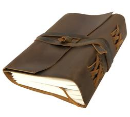 Leather Bound Personal Journal/Diary-Notebook/Sketchbook to