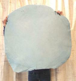 3-4 oz. BABY BLUE Suede Leather Hide for Native Crafts Journ