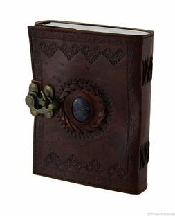 5 Pcs Handmade vintage Embossed Leather With Stone Journal w