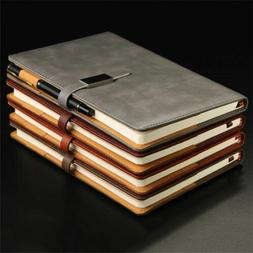 A5 PU Leather Vintage Journal Notebook Lined Paper Diary Pla