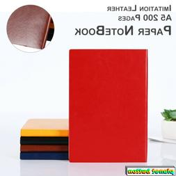 A5 Thicken Soft Leather Cover Journal Writing Paper Notebook