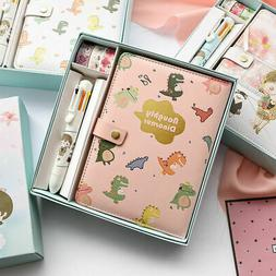 A6 PU Leather Cute Journal Notebook Paper Diary Planner 224