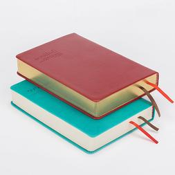 A6 Synthetic Leather Bound Bullet Journal Thick Notebook Bla