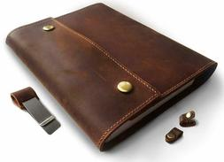 Albero Refillable Genuine Leather Journal For Men  Woman Wit