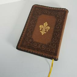 Barnes And Noble Brown Leather Journal Pamphlet Blank Diary