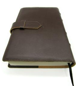 Barnes and Noble Fiorentina Bonded Italian Brown Leather Tab