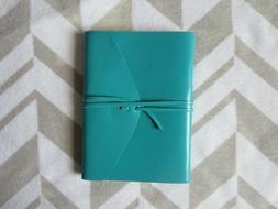 "BARNES & NOBLE leather journal bombay turquoise blue 6"" x 8"""