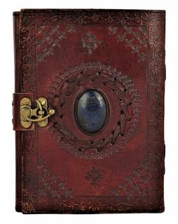 Handmade Blue Stone Embossed Leather 180 Pages Unlined Journ