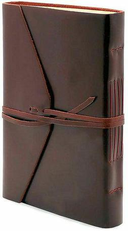 """Bombay Brown Leather Journal with Tie 6"""" x 8.5"""""""