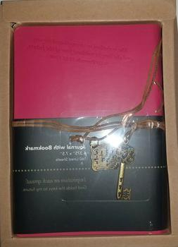 Divinity Boutique 22876 Journal w/ Key Charm Pink Proverbs 3