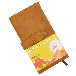 Brown Leather 200 Pages Lined Traveler's Journal 100gsm Rule