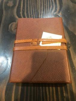 Brown Pebbled Leather Bound Journal Leather Tie Made In Ital