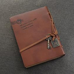 Vintage Classic Retro Leather Diary Journal Travel Notebook