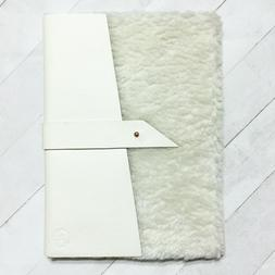 Anthropologie Daphne Journal Sherpa Leather Notebook 9x6.5 C