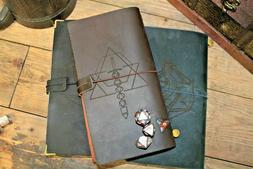 Engraved Genuine Leather Journal | Campaign Notebook | 15 De