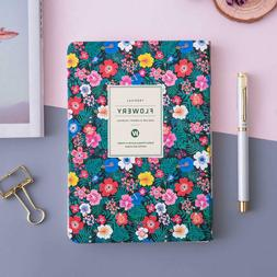 A5 Monthly Weekly Planner for Women Floral Leather Soft Cove