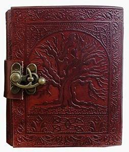 Gbag  Tree of Life Journal Leather with C-Lock Notebook Gift