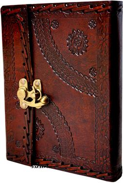 Genuine Handmade Vintage Leather Bound Journal With Lock For