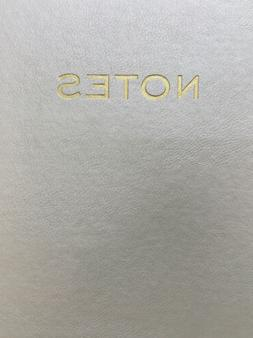 "Eccolo Gold Foil Embossed "" Notes"" Journal Notebook Faux"