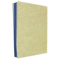 Designer Gold Metallic Leather Lined Notebooks & Journals BH