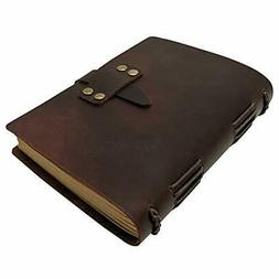 Handcraft Leather Journal with Lined Paper, 120 Sheets Kraft