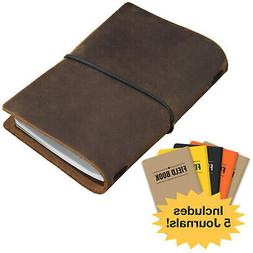 Handcrafted Top Grain Leather Journal Notebook Cover: Includ