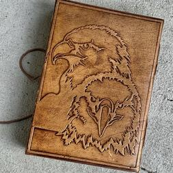 Handmade Leather Journal Note Book Rope Tie closure rugged d