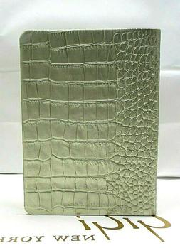 """Henri Bendel Leather 7"""" Notebook Journal Lined Pages Gold Cr"""