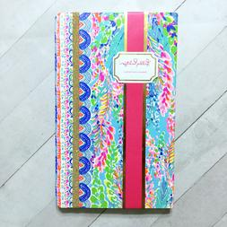 """Lilly Pulitzer Journal Catch the Wave Notebook 8.25"""" Faux Le"""