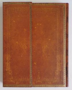 "Paperblanks Journal Lined 9"" x 7"" 2002 Hand-tooled Leather S"