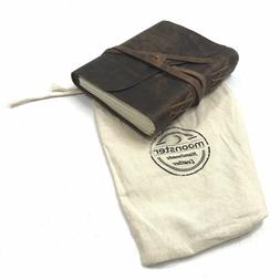 Journal Vintage Bound Handmade Leather Cover Notebook Men Wo