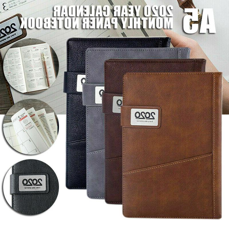 2020 a5 diary weekly monthly schedule notebook