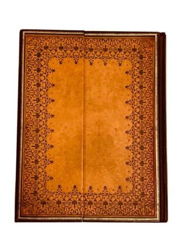 blank ultra lined writing journal handtooled size