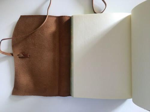 Brown / Notebook W/ Strap Unlined Classic