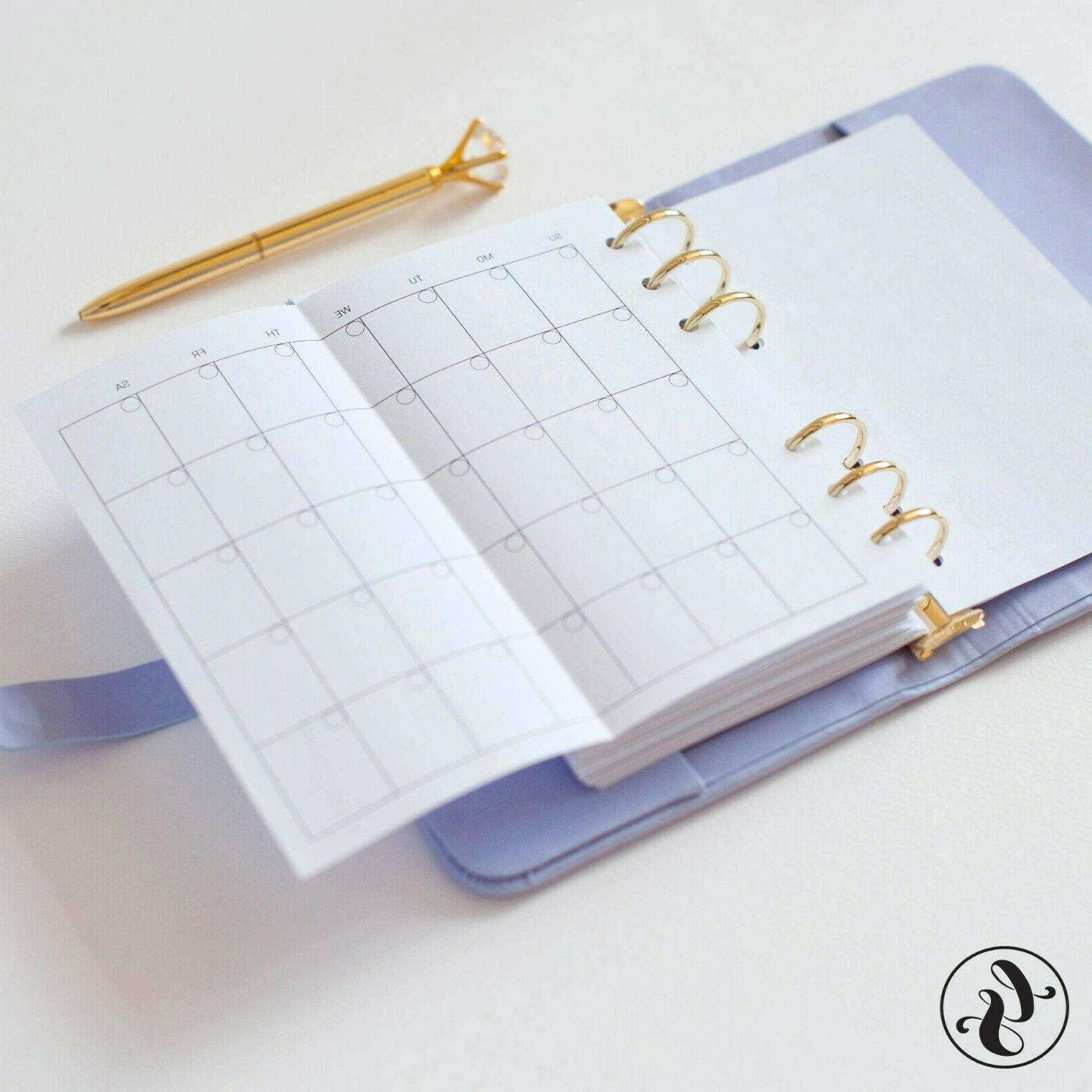 Leather With Monogram Monthly Calendar