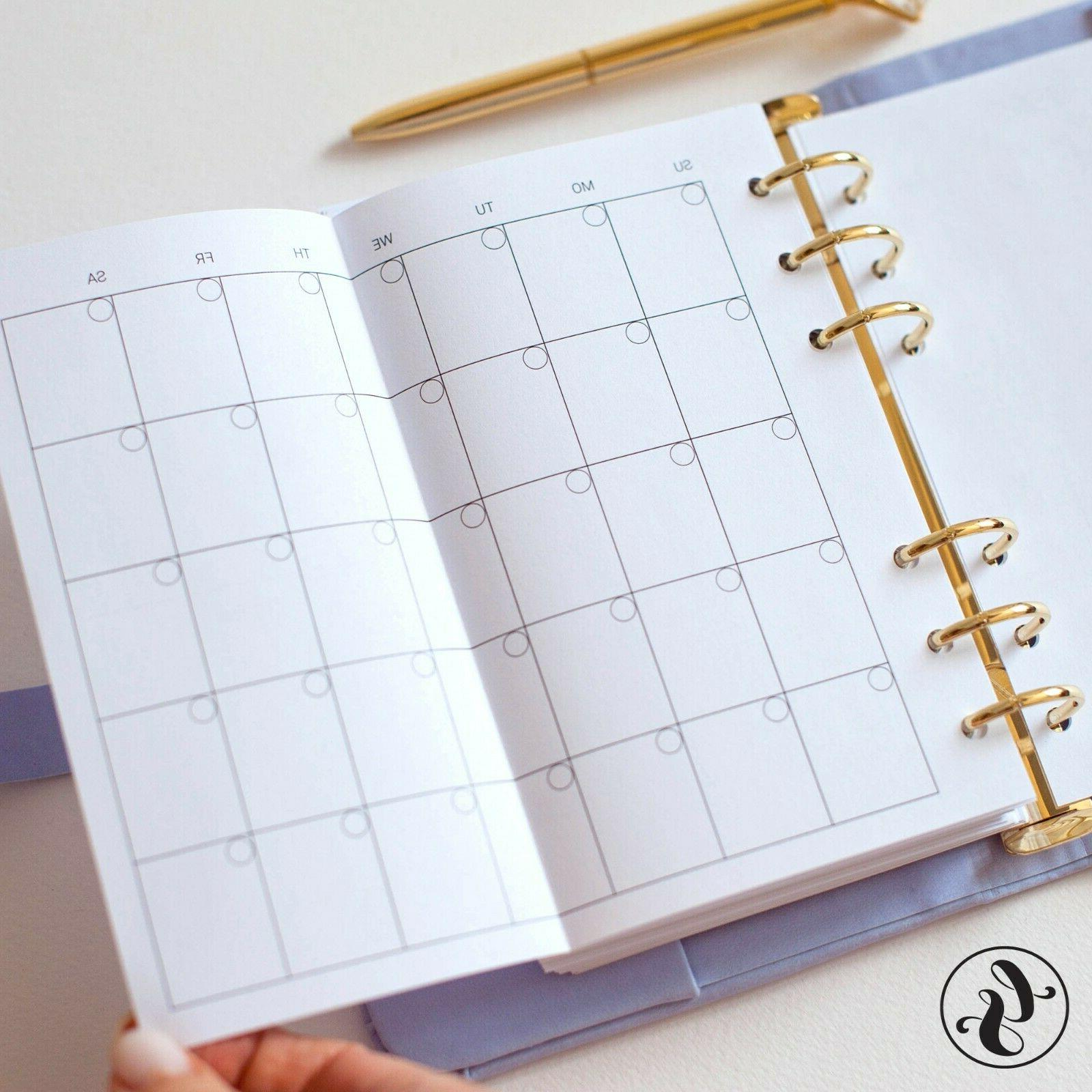 Leather Journal With Monogram Planner Monthly Calendar