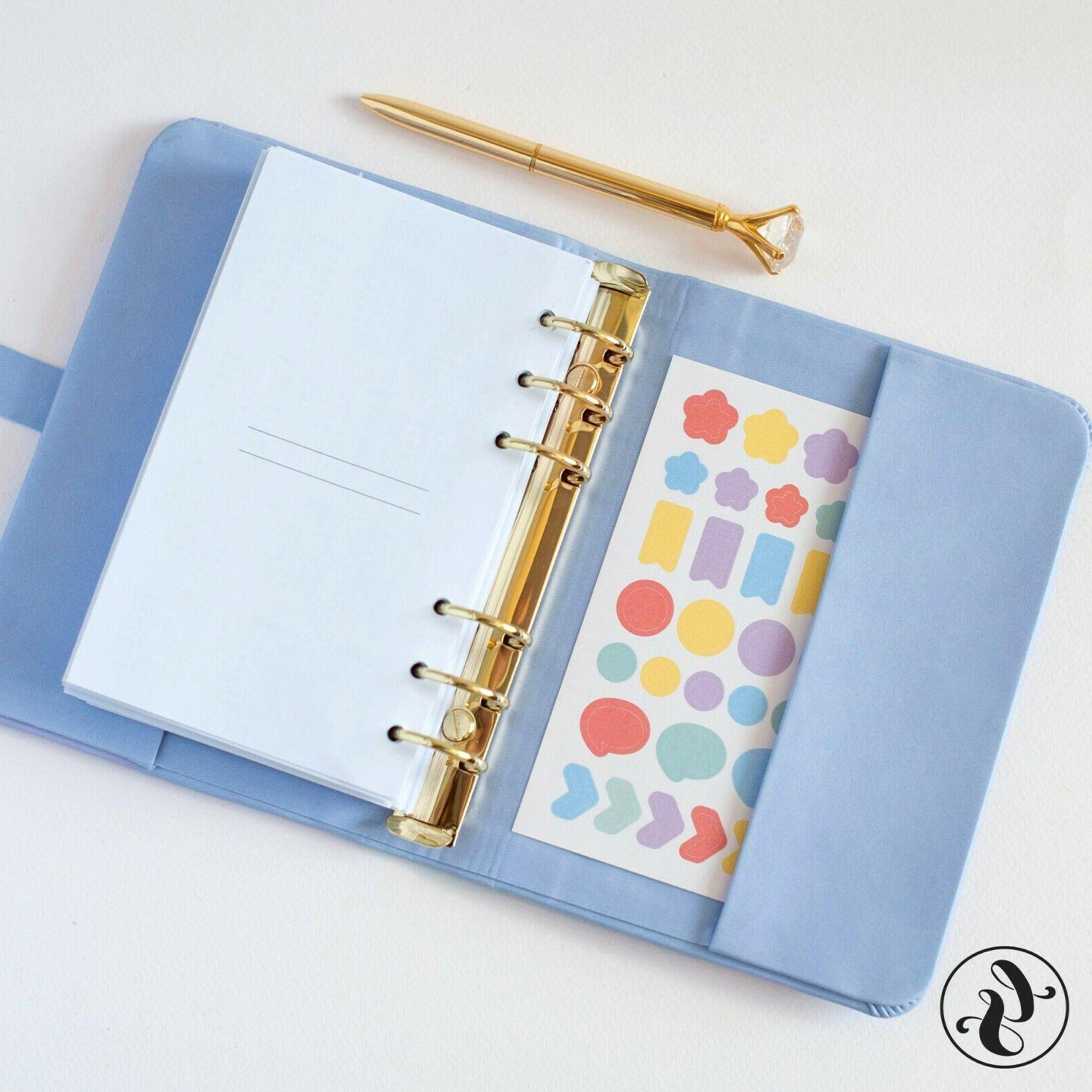 Leather Journal With Monogram Planner Calendar