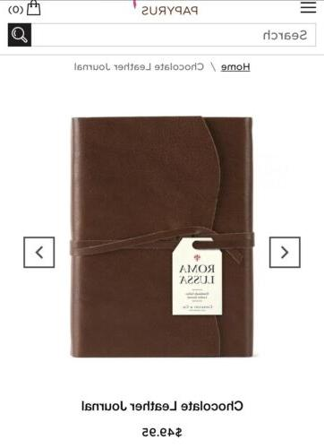 co small leather journal chocolate papyrus