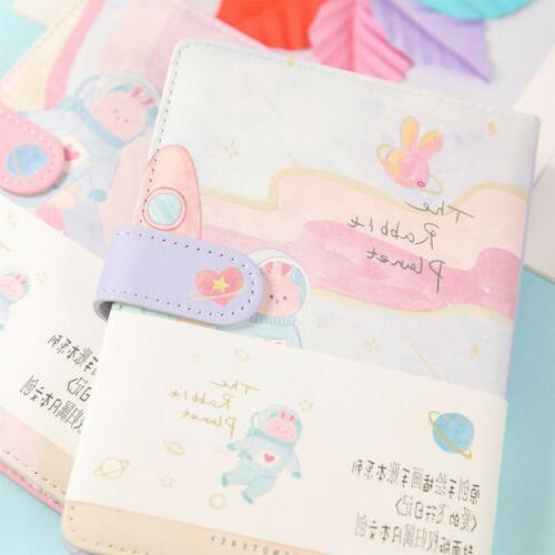 cute pu leather journal notebook lined grid