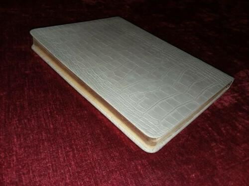 embossed leather journal book gold edges built