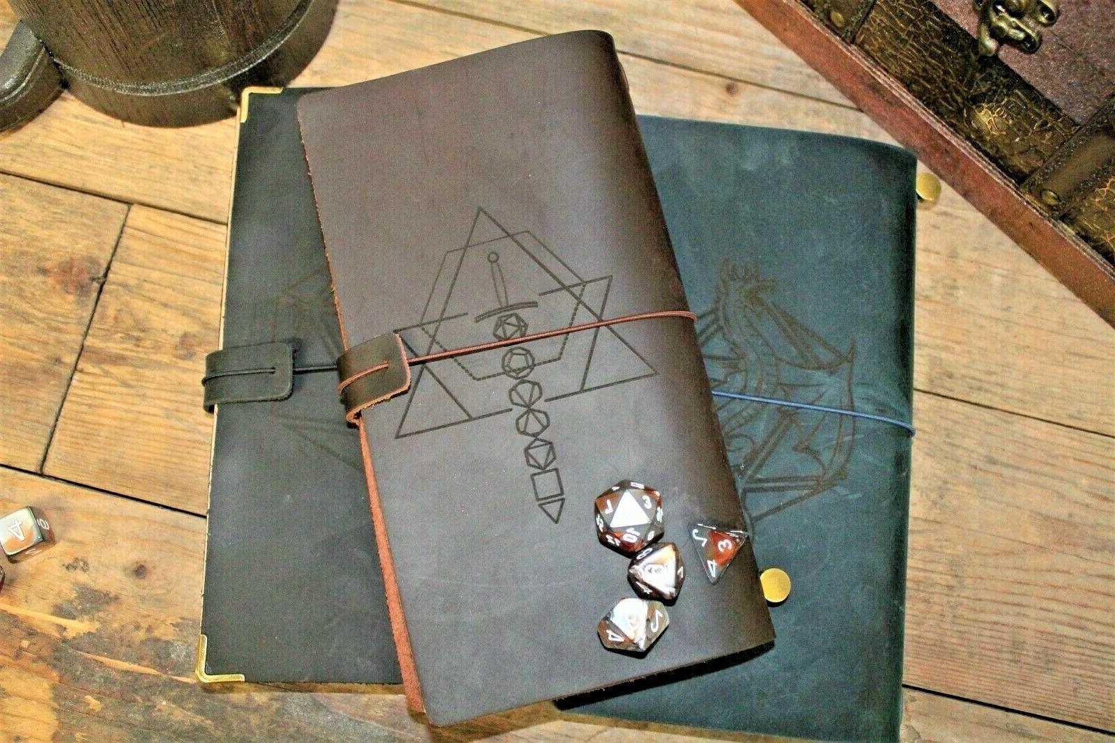 engraved genuine leather journal campaign notebook 15