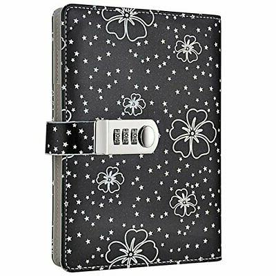 floral password notebook lock journal combination diary