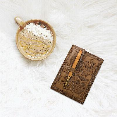 Home Decor Handcrafted Embossed Journal Wooden Pen Dad