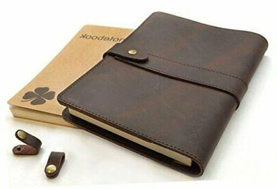 le vent refillable leather journal for men