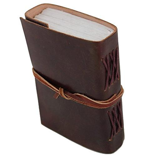 Leather Cover Diary Journal Book