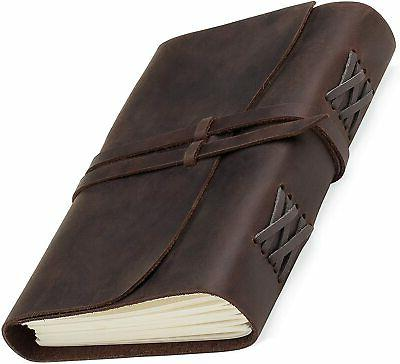 leather journal refillable writing notebook handmade leather