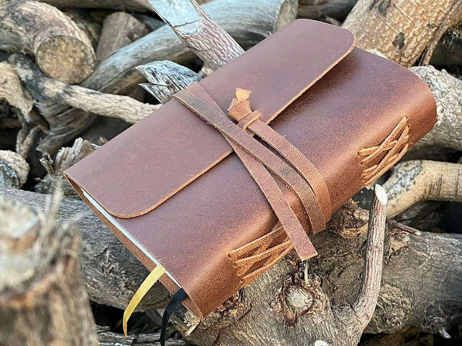 """Lined Leather Bound for and Lined 7x5"""""""