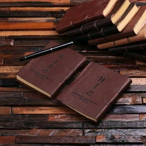 personalized his and hers small leather journals