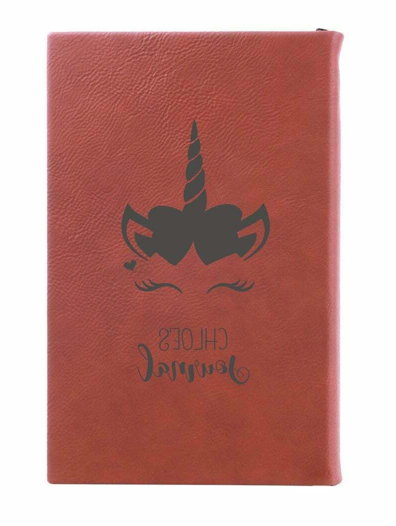 personalized journal kids laser engraved leather notebook